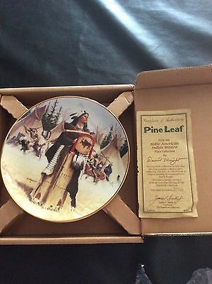 Pine Leaf Noble American Woman Collectors plate #3074A