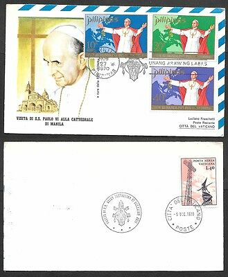 1970 Philippines Cover - Papal Visit - Pope Paul VI