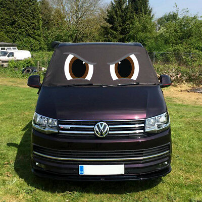 VW Transporter T6 Front Window Screen Cover Black Out Blind Frost Eyes Brown