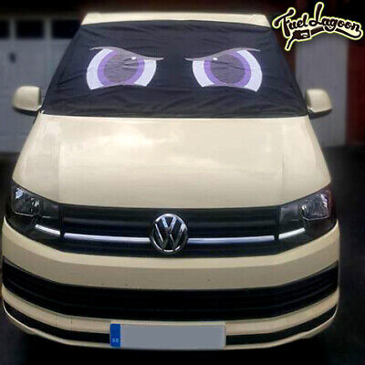 VW Screen Cover Transporter T6 Front Window Black Out Blind Frost Eyes Purple