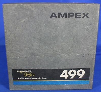"""Ampex 499 1/2"""" x 2500' Reel Grand Master Gold Mastering Precision Magnetic Tape"""