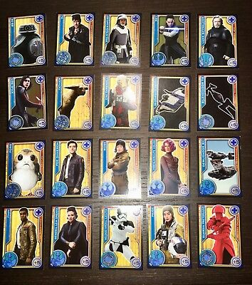 Lot 20 Cards Star wars The Last Jedi Topps. Complete Collection.