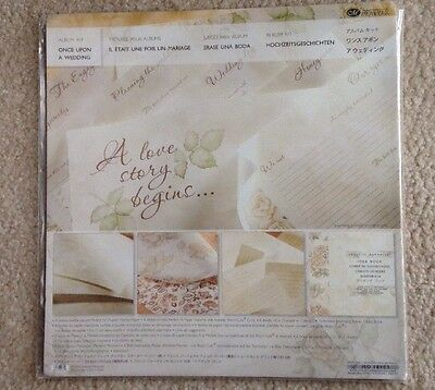 New In Pkg Creative Memories Once Upon A Wedding Kit 12x12:15 Sheets Perfect Fit
