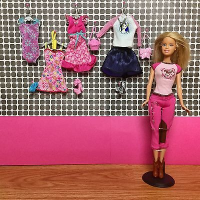 BARBIE DOLL & CLOTHES LOT Fashion Collection EUC Outfits Shoes Accessories