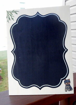 Hand Painted Yorkie Yorkshire Chalkboard Sign