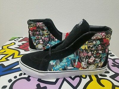 57a81b7e99 Vans Sk8-Hi Disney Alice In Wonderland Rabbit Hole Men s Skate Shoes size 11