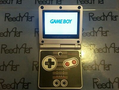 BLACK NES Classic Edition AGS-101 MINT GameBoy Advance SP Bright Nintendo System