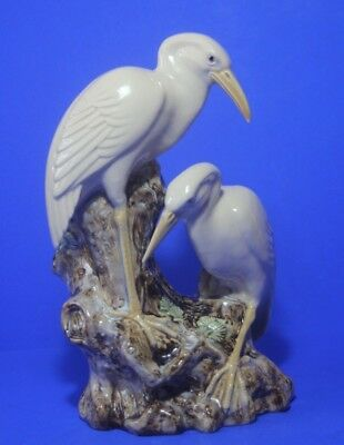 "Chinese WHITE  EGRETS /CRANES, Spill vase /figurine 9.8 "" / 25 cm  tall"