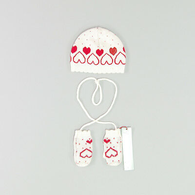 Set gorro y manoplas color Blanco marca Boboli 3 Meses  159223