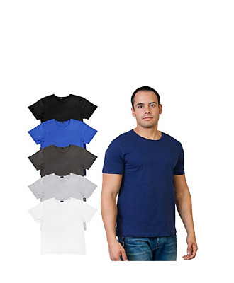 Men's Agiato Basic Crew Neck T-Shirt 6-Pack - Clearance/No Returns