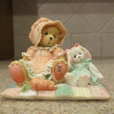 """NEW Cherished Teddies FAITH """"There's No Bunny Like You"""" #916412  org. box/papers"""