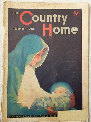 Vintage Magazine The Country Home Christmas December 1932