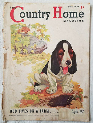 Vintage Magazine The Country Home October 1937