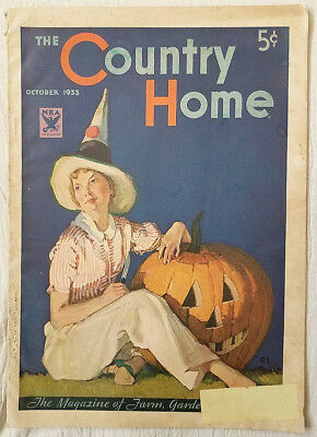 Vintage Magazine The Country Home October 1933