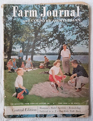 Vintage Magazine Farm Journal and Country Gentleman June 1956