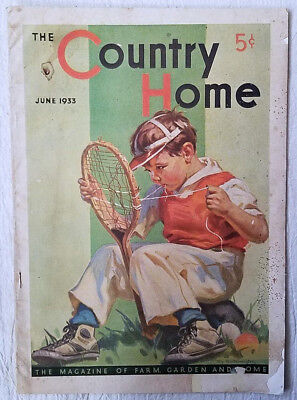 Vintage Magazine The Country Home June 1933