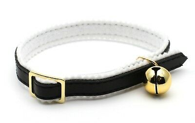 Ancol Cat Kitten Safety Collar with Bell, Adjustable, Black
