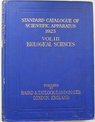 1923 England Scientific Apparatus Biological Sciences Standart Catalogue