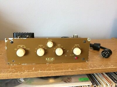 Vintage Leak Vari-Slope Preamplifier w/ Connector Cable Mono Tube Varislope