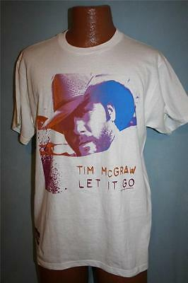 TIM MCGRAW 2007 Let It Go Concert Tour T-SHIRT Medium COUNTRY MUSIC