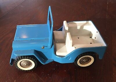 Vintage Tonka Steel Jeep ~ Blue ~ Toy Collectible