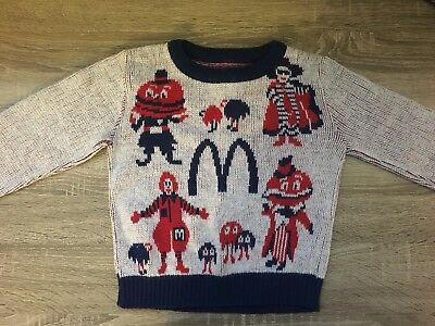 Rare 1950's McDonalds Knit Kids Sweater Jumper collectibles