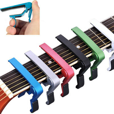 Aluminium Alloy Tune Quick Change Clamp Key Acoustic Classic Guitar Capo