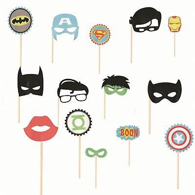 14pcs Movie Photo Booth Avenger comics Party Props for Birthday Xmas Events