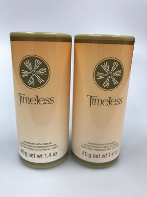 2 Avon Timeless Shimmering Body Powder Talc 1.4 oz Discontinued