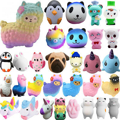 Jumbo Animals Slow Rising Squishies Scented Charms Kawaii Squishy Squeeze Toys