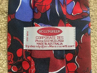 Bulk Lot 45 x Matching New Silk Neck Ties Fruit Strawberry Red Blue Color