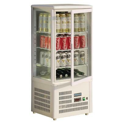 Refrigerated Cold Food Display Cabinet 68Lt White Countertop Sandwich Cake Polar