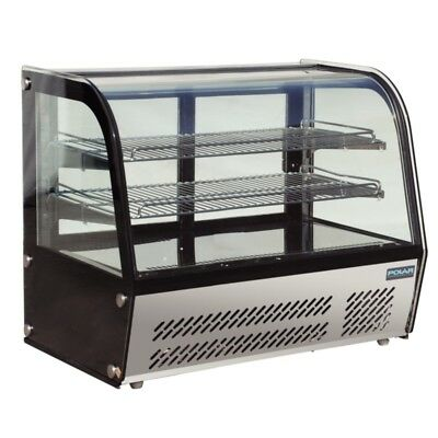 Refrigerated Cold Display Cabinet 100Lt Curved Countertop Sandwich Cake Polar