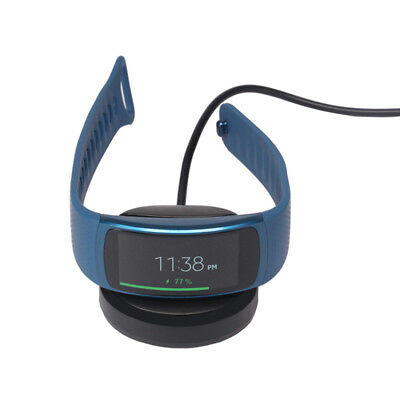 For Samsung Gear Fit2 SM-R360 Smart Watch Charger Station black USB Charging xin