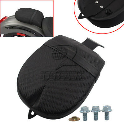 Motorcycle Black Rear Passenger Pillion Pad Seat Kit For 2017 Victory Octane