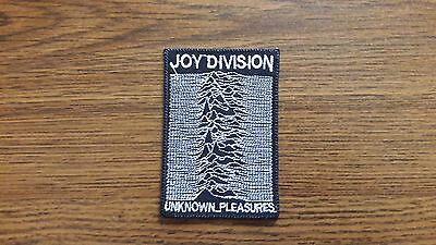 Joy Division,unknown Pleasures,iron On White Embroidered Patch