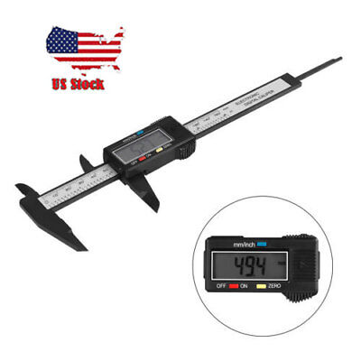 """6"""" Precision Stainless Digital LCD Electronic Caliper Ruler Micrometer Guage US"""