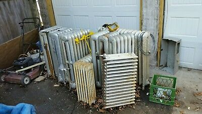 Antique Vintage   Hot Water or Steam Radiator Boston about 17 fin