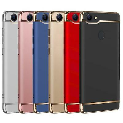 Luxury Electroplating 3 in 1 Protective Bumper Matte Case Cover For Oppo A73 /F5