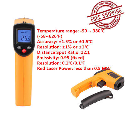 Nice Non-Contact LCD IR Laser Infrared Digital Temperature Meter Thermometer WL