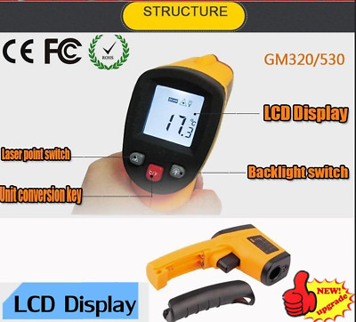 Nice Non-Contact LCD IR Laser Infrared Digital Temperature Thermometer Gun NJ