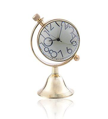 Brass DeskTop Clock Nautical Home Office Decor Desk Top