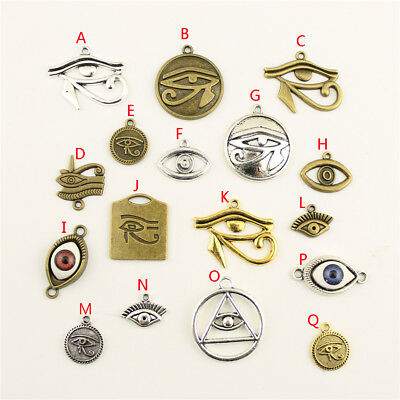 15pcs Eye Of The Horus Charms Pendant DIY Jewelry Findings Handmade Accessories