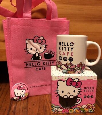 Hello Kitty Cafe Ceramic Mug And Tote Pop-Up Store/Truck
