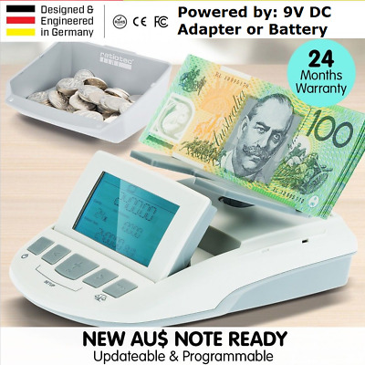 Digital Coin Note Sorter Money Counter Currency Cash Machine Scales Australia