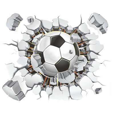 Dom i Meble Dekoracje 3D Hole in Wall Football Stadium Match Soccer Wall Sticker Poster M19-306
