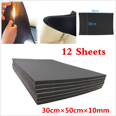 12 Sheets Set 10mm Car Van Sound Proofing Deadening Insulation Closed Cell Foam