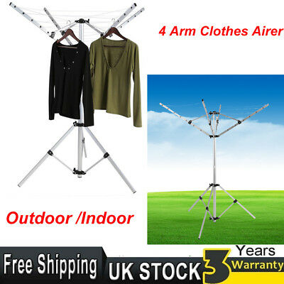 crusader 4 arm portable aluminium rotary airer clothes. Black Bedroom Furniture Sets. Home Design Ideas
