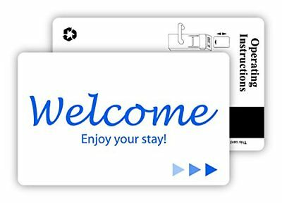New Hotel & Motel Popular WELCOME Magnetic Stripe Key Cards -500 per case