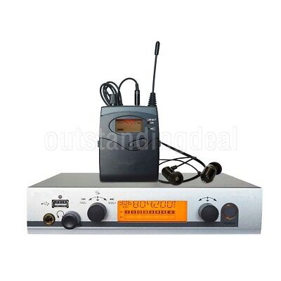 Stage UHF Wireless In-Ear Headphones Monitor System Transmitter Receiver